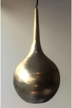 Teardrop brass lamp